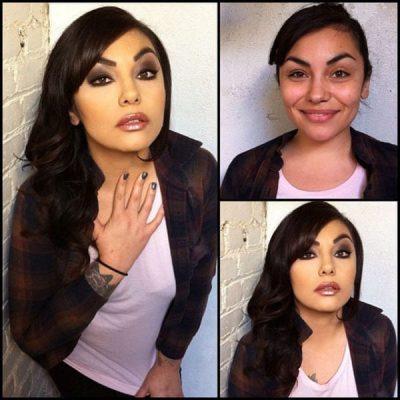 93 Stars du X avant et après maquillage